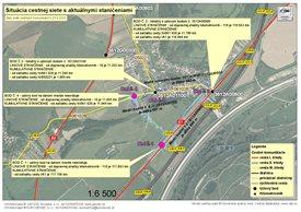 VZOR č.1 - mapa s vyznačeným staničením