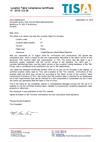 Certificate N° 2018-122-SK
