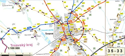 Mapa SR 1: 100 000