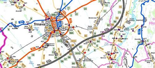 Mapa SR 1: 150 000