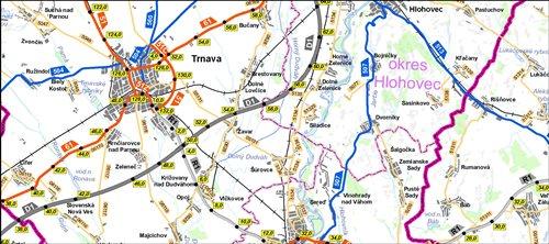 Mapa SR 1: 200 000