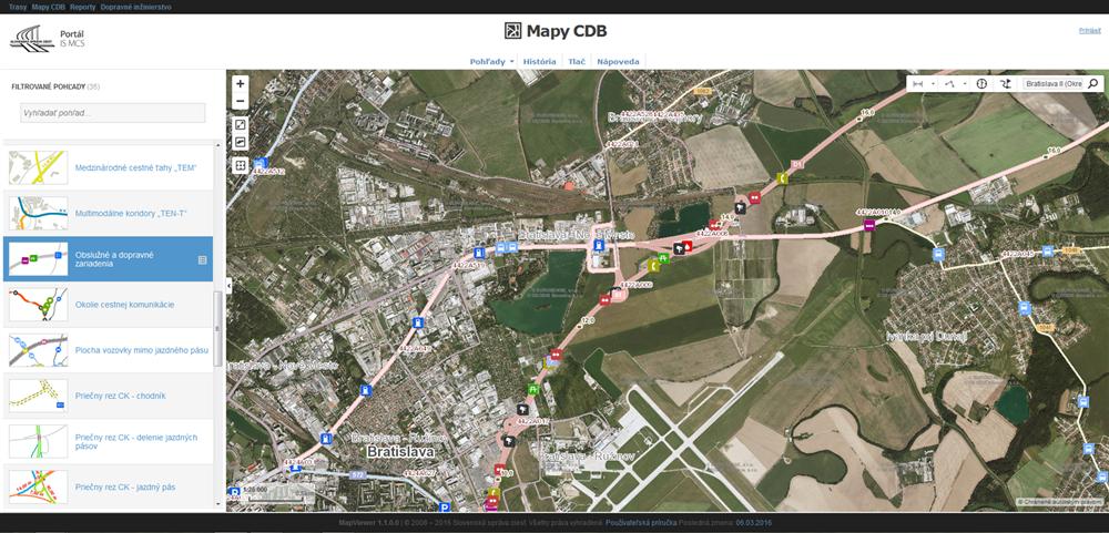 Mapviewer - online data