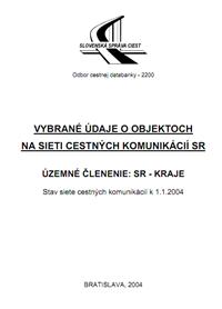Objekty CK kraj/okres k 1.1.2004
