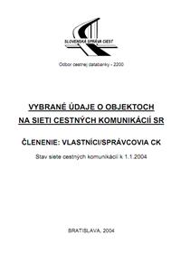 Objekty vlastník/spravca k 1.1.2004