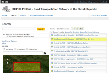 INSPIRE Portal for Road Transport Network