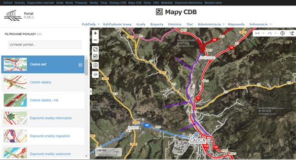 Mapy CDB - Nový úsek D3