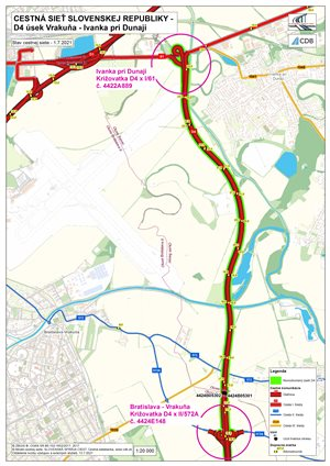Nový úsek diaľnice D4 medzi Vrkuňou a Ivankou pri Dunaji