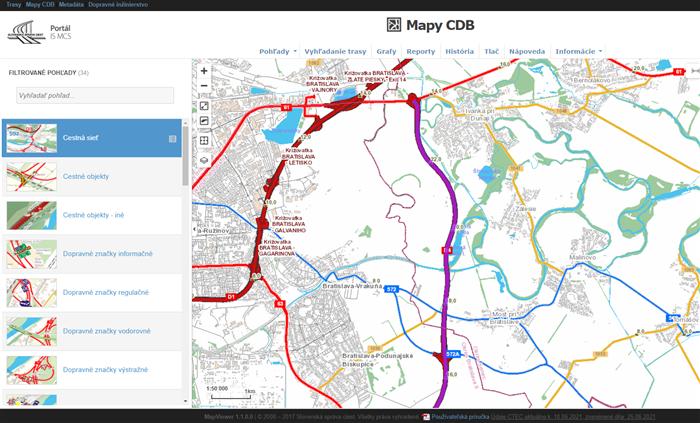 Portál IS MCS - Mapy CDB