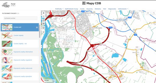 Mapy CDB