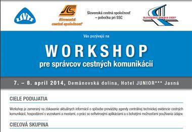 Workshop pre správcov CK - 2014