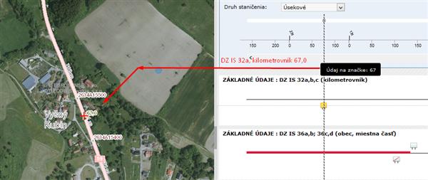 Podrobné údaje - kilometrovník