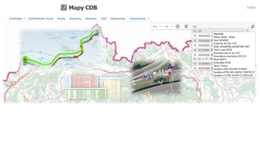 Mapy CDB  - vyhľadávanie
