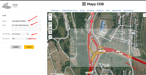 Mapy CDB - tlač