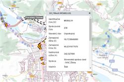 Mapový pohľad : Cestné objekty / maptip most