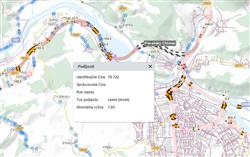 Mapový pohľad : Cestné objekty/ maptip podjazd