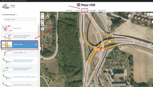 Mapy CDB - výber pohľadu
