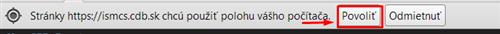 Moja poloha - povoliť v prehliadači Chrome