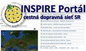 Inspire portál - cestná dopravná sieť SR