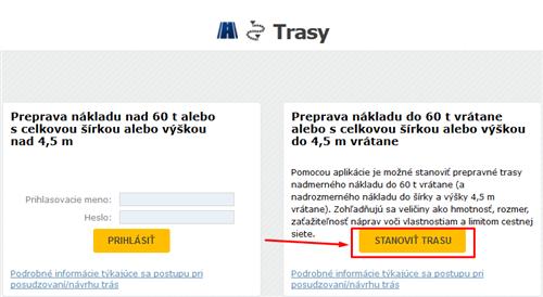 TRASY - stanovenie trasy pre NNN